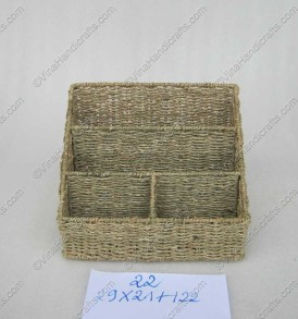 Hộp cói xe đan nhiều ngăn VNH0011