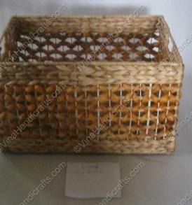 Hộp bèo đan hoa văn VNH0033