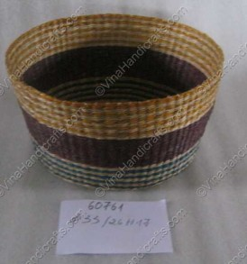 Seagrass box with stripped motifs VNH0062