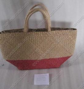 Túi đan cói dập hai màu VNH0051