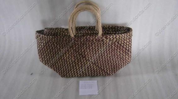 Túi đan cói dập họa tiết zíc zắc VNH0052