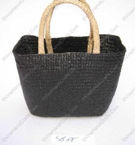 Làn đan cói dập màu đen VNH0092