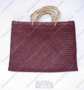 Túi đan cói dập màu đỏ VNH0095