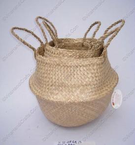 Giỏ đan cói dập màu trơn VNH0097