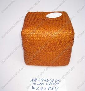 Hộp đan cói dập màu có nắp VNH0107