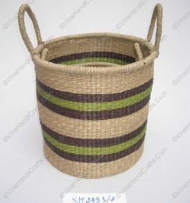 Seagrass bags in black and green VNH0111