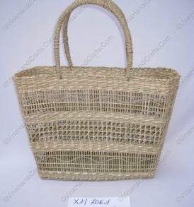 Seagrass bag knitted in fox-eye unit VNH0114