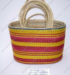 Túi cói (cỏ biển) họa tiết màu VNH0123