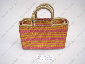 Túi cói (cỏ biển) họa tiết màu VNH0124