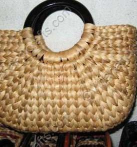 Túi bèo quai nhựa tròn màu trơn VNH0169