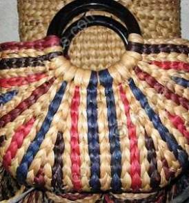 Túi bèo quai nhựa tròn họa tiết màu VNH0166