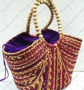 túi bèo quai hạt họa tiết màu VNH0209