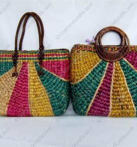 túi bèo đính quai họa tiết màu VNH0210