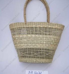 Túi cỏ biển (cói) đan mắt cáo VNH0151