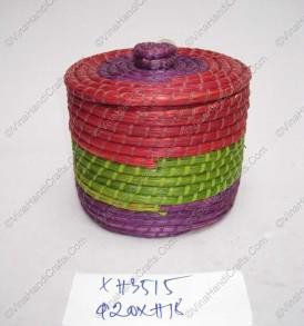 Hộp đan cói xiên nhựa màu VNH0223