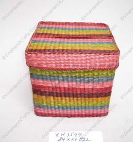 hộp cói vuông nhiều màu VNH0227
