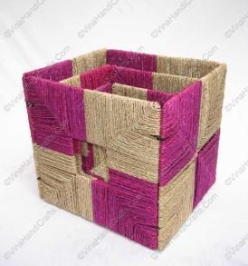 hộp cói vuông màu VNH0304