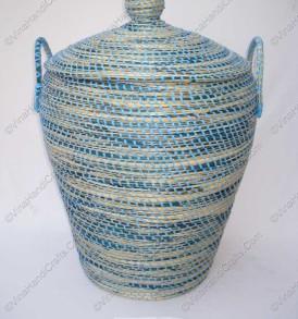 Giỏ cói (cỏ biển) xiên nhựa màu VNH0305