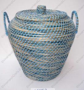 Giỏ cói ( cỏ biển) xiên nhựa màu VNH0307