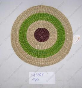 thảm cói tròn màu VNH0336