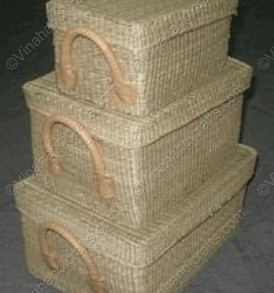 Seagrass boxes rectangular natural color vnh0363