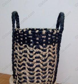 Giỏ cói (cỏ biển) tết màu VNH0394
