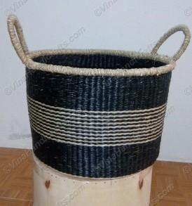 Giỏ cói (cỏ biển) họa tiết màu VNH0392
