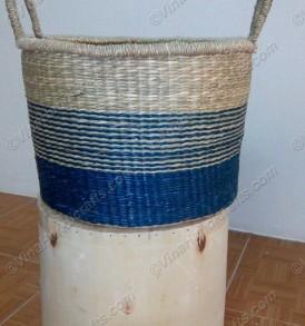 Giỏ cói (cỏ biển) họa tiết màu VNH0393