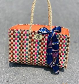 Túi cói ( cỏ biển) họa tiết màu VNH0437